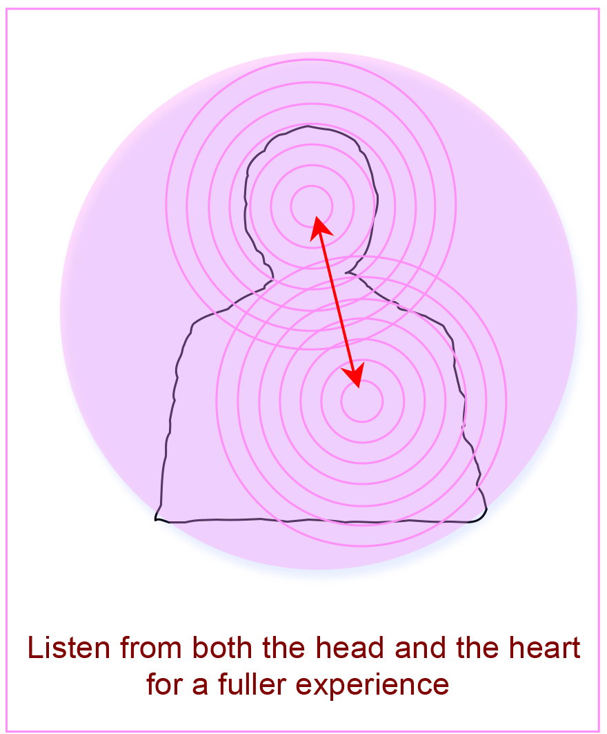 Listen with the head and heart